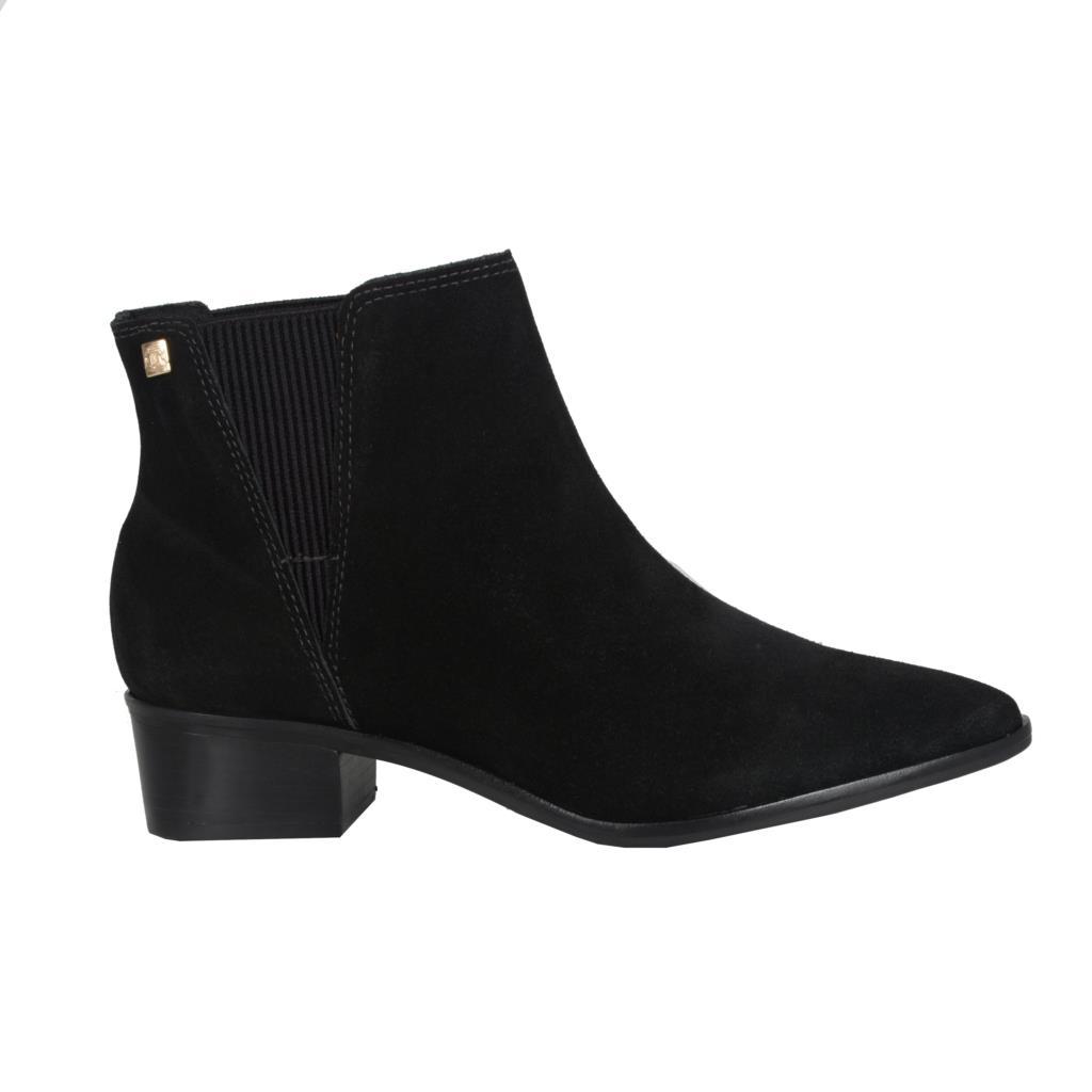 Ankle boot camurção preta                     2