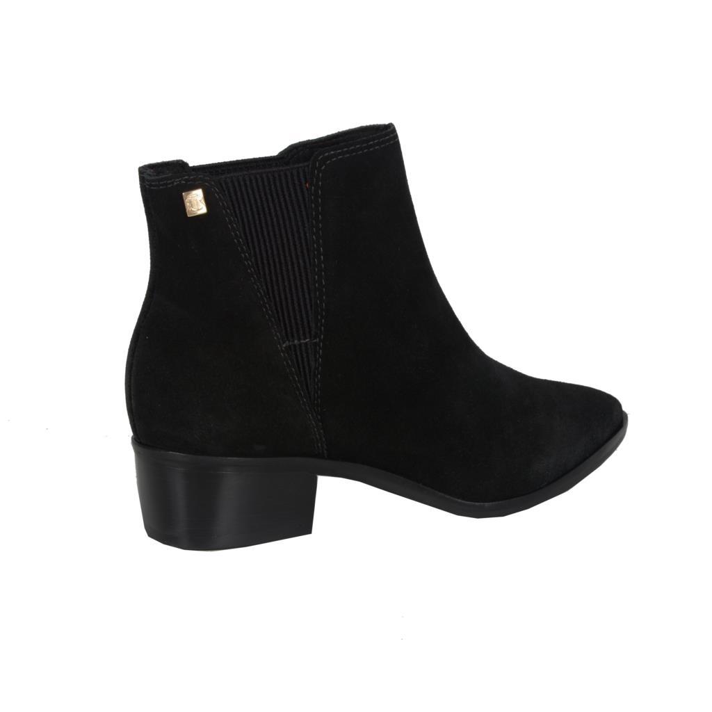 Ankle boot camurção preta                     3