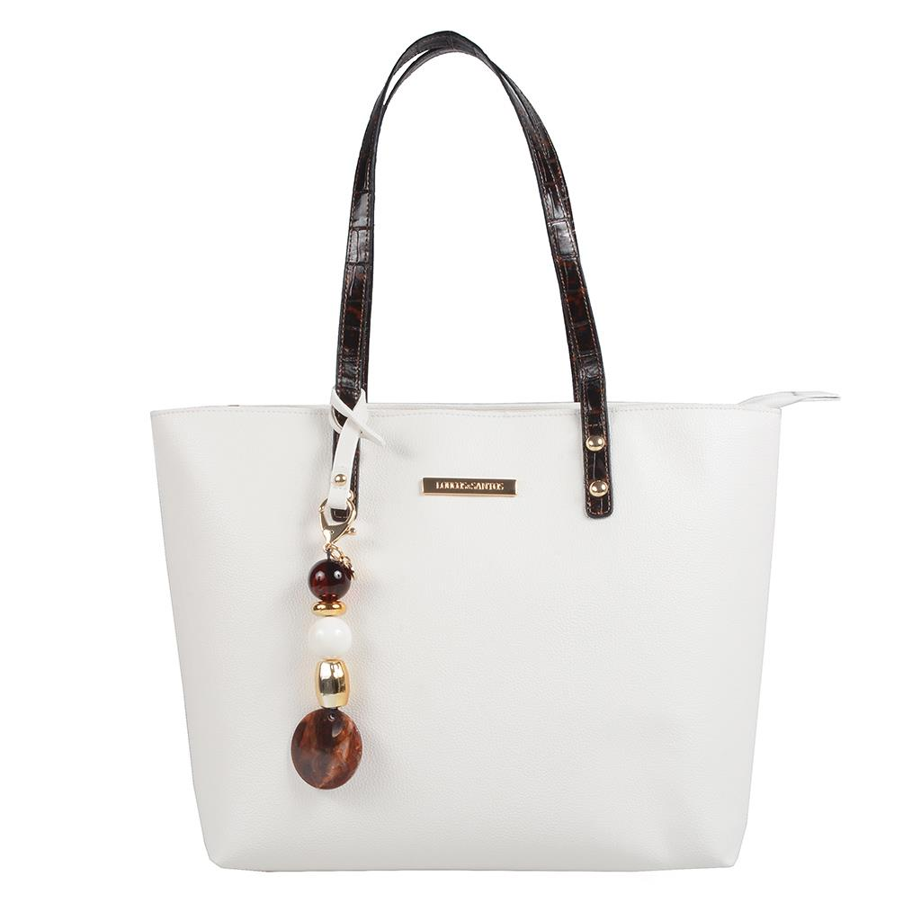 Imagem - Bolsa sacola branca com bag charm I19