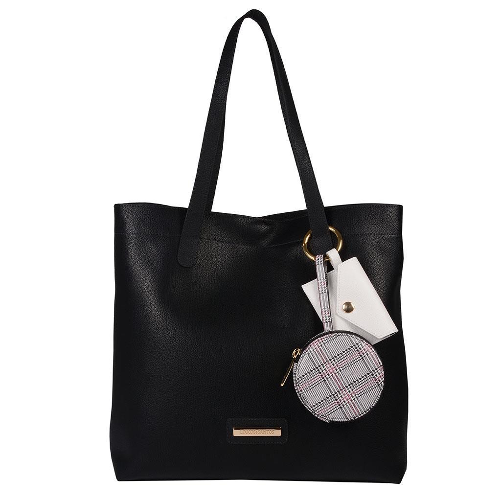 Imagem - Bolsa sacola preta com mini bags I19