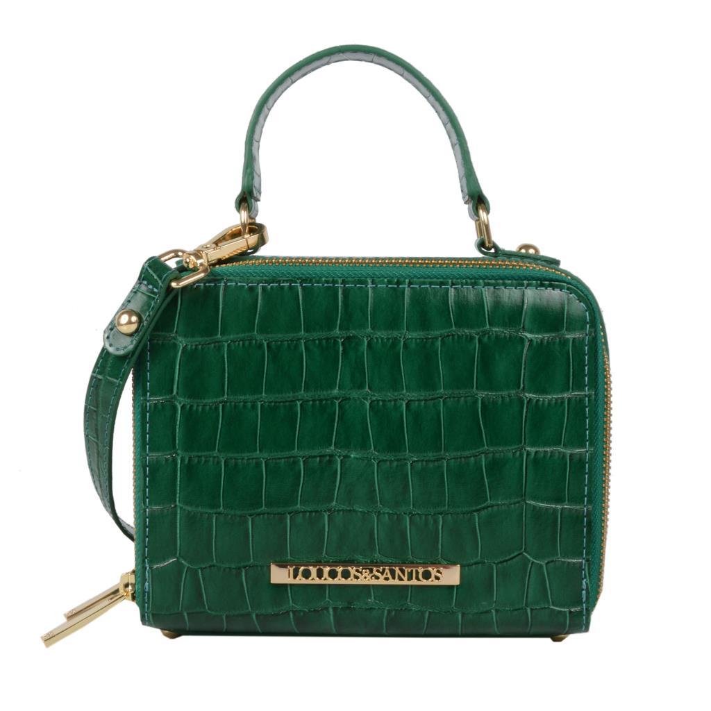 Imagem - Bolsa box tiracolo croco verde I19
