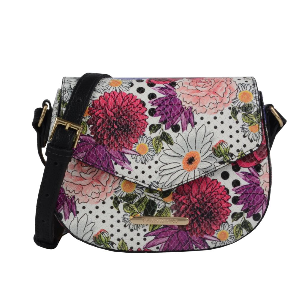 Imagem - Clutch estruturada floral multicolor