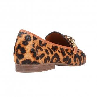 Loafer Animal Print com Detalhe de Corrente I21 3