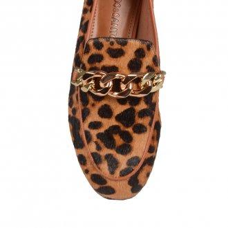 Loafer Animal Print com Detalhe de Corrente I21 4