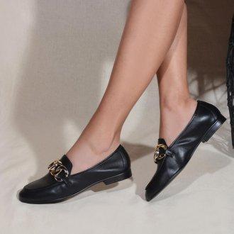 Loafer Couro Preto V21 4