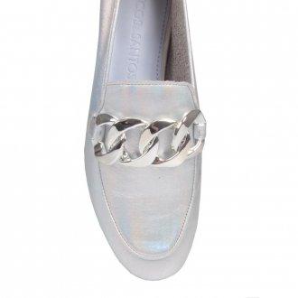 Loafer Couro Holográfico Prata V21 3