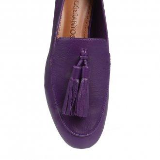Loafer Couro Roxo V21 3