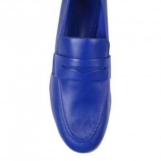 Loafer Couro Azul Royal I21 5