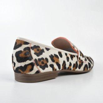 Loafer Couro Pelo Onça V22 3