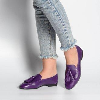 Loafer Couro Roxo V21 2