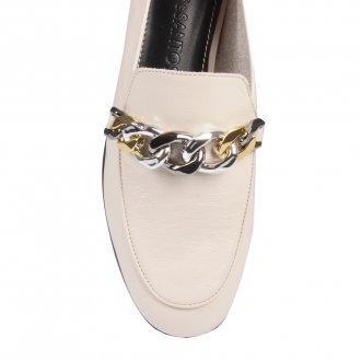 Loafer Off White com Corrente I21 2