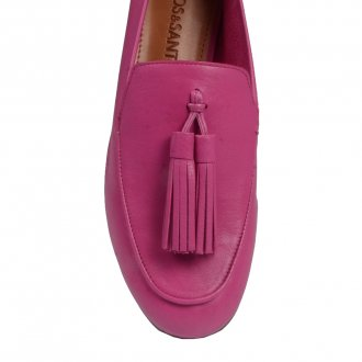 Loafer Couro Rosa Chiclete V21 3