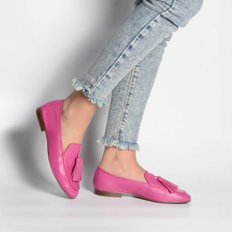 Loafer Couro Rosa Chiclete V21 2
