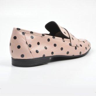 Loafer Couro Poá Rosa/Preto V22 3
