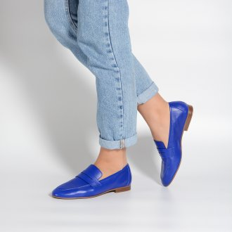 Loafer Couro Azul Royal I21 2