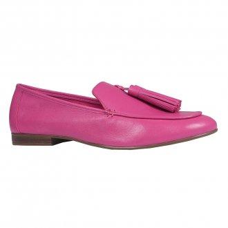 Loafer Couro Rosa Chiclete V21