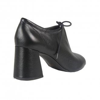 Open Boot Couro Preta I21 4