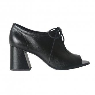 Open Boot Couro Preta I21 3