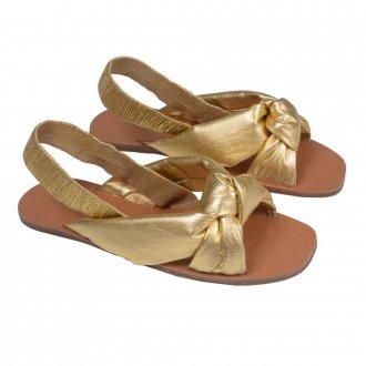 Sandália Rasteira Metalizado Dourado V21 4