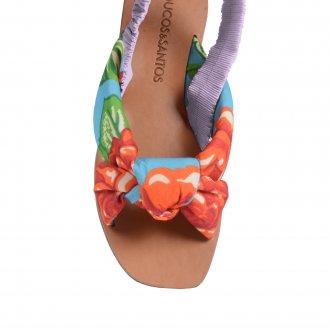 Sandália Rasteira Chita Floral V21 3