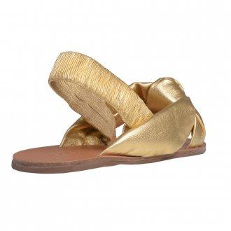 Sandália Rasteira Metalizado Dourado V21 2