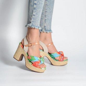 Sandália Plataforma Chita Floral V21 2