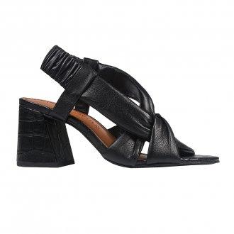 Sandália Preta com Tiras Maleáveis V21