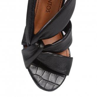 Sandália Preta com Tiras Maleáveis V21 5
