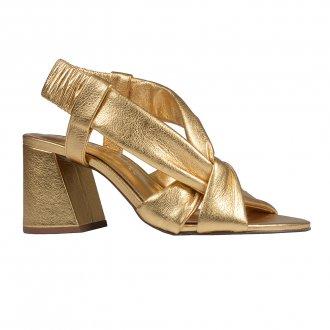 Imagem - Sandália Dourada com Tiras Maleáveis V21