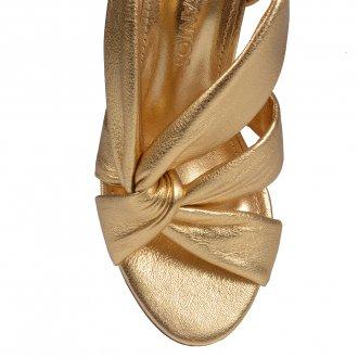 Sandália Dourada com Tiras Maleáveis V21 3