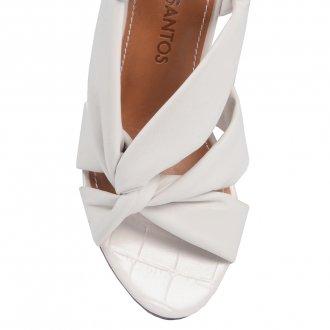 Sandália Branca Com Tiras Maleáveis V21 3