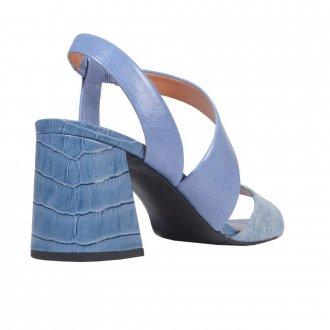 Sandália Couro Azul Jeans V21 4