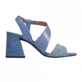 Sandália Couro Azul Jeans V21 3