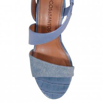 Sandália Couro Azul Jeans V21 5