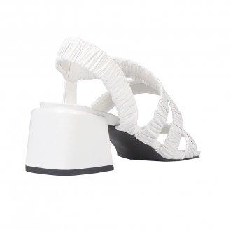 Sandália Branca com Tiras Maleáveis I21 4