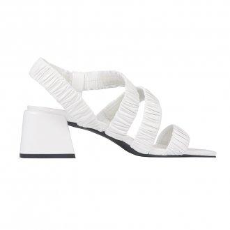 Sandália Branca com Tiras Maleáveis I21 3