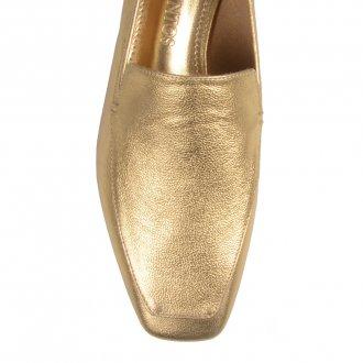 Loafer Couro Dourado V21  3