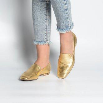 Loafer Couro Dourado V21  2