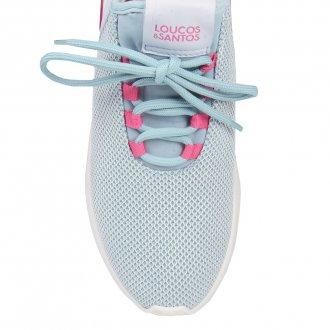 Tênis Esportivo Light Blue com Pink V21 4