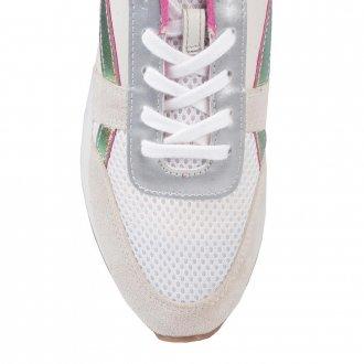 Tênis Jogger Couro Branco V21 2