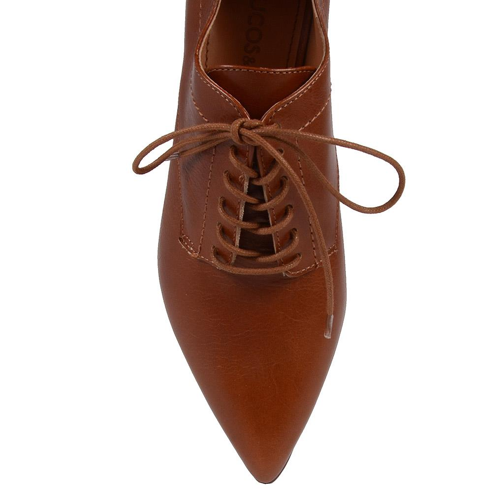 Ankle boot cacau com amarração I19 4