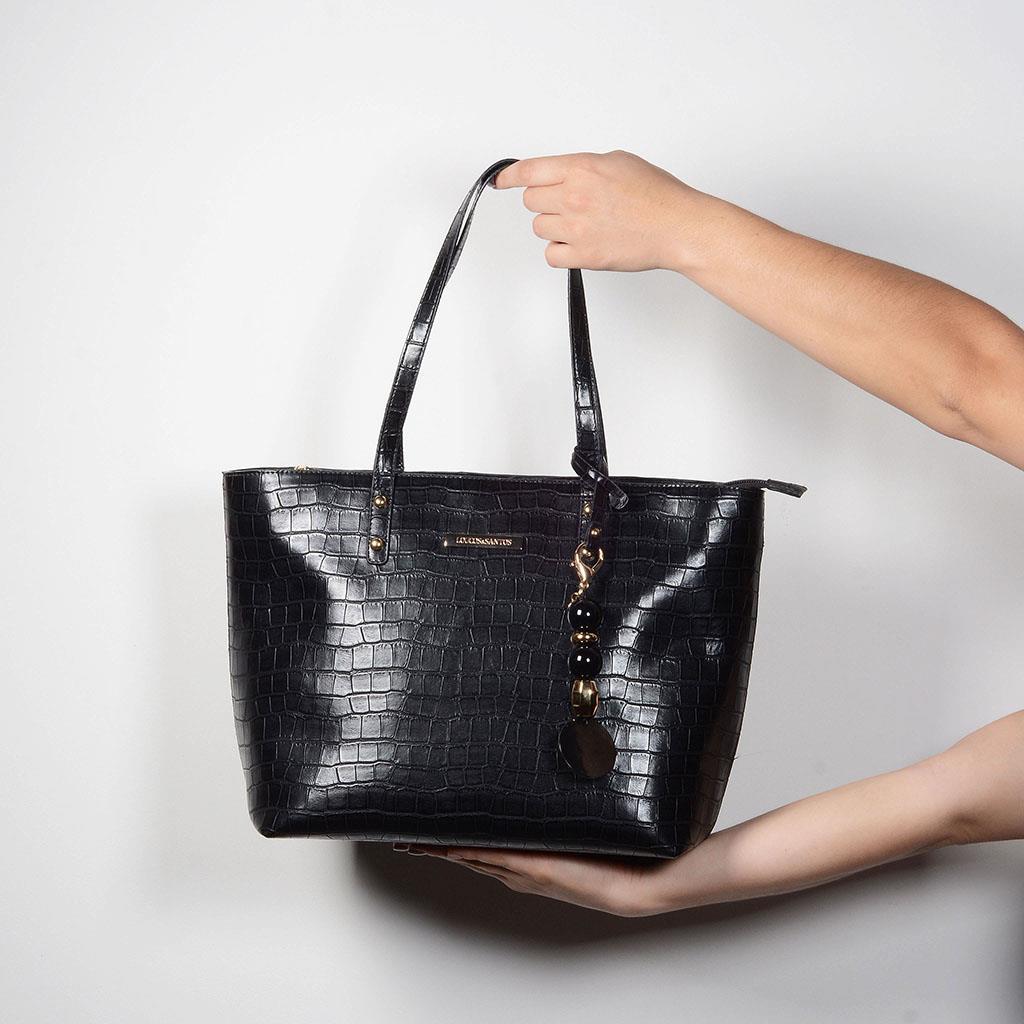 Bolsa sacola  com bag charm I19 6