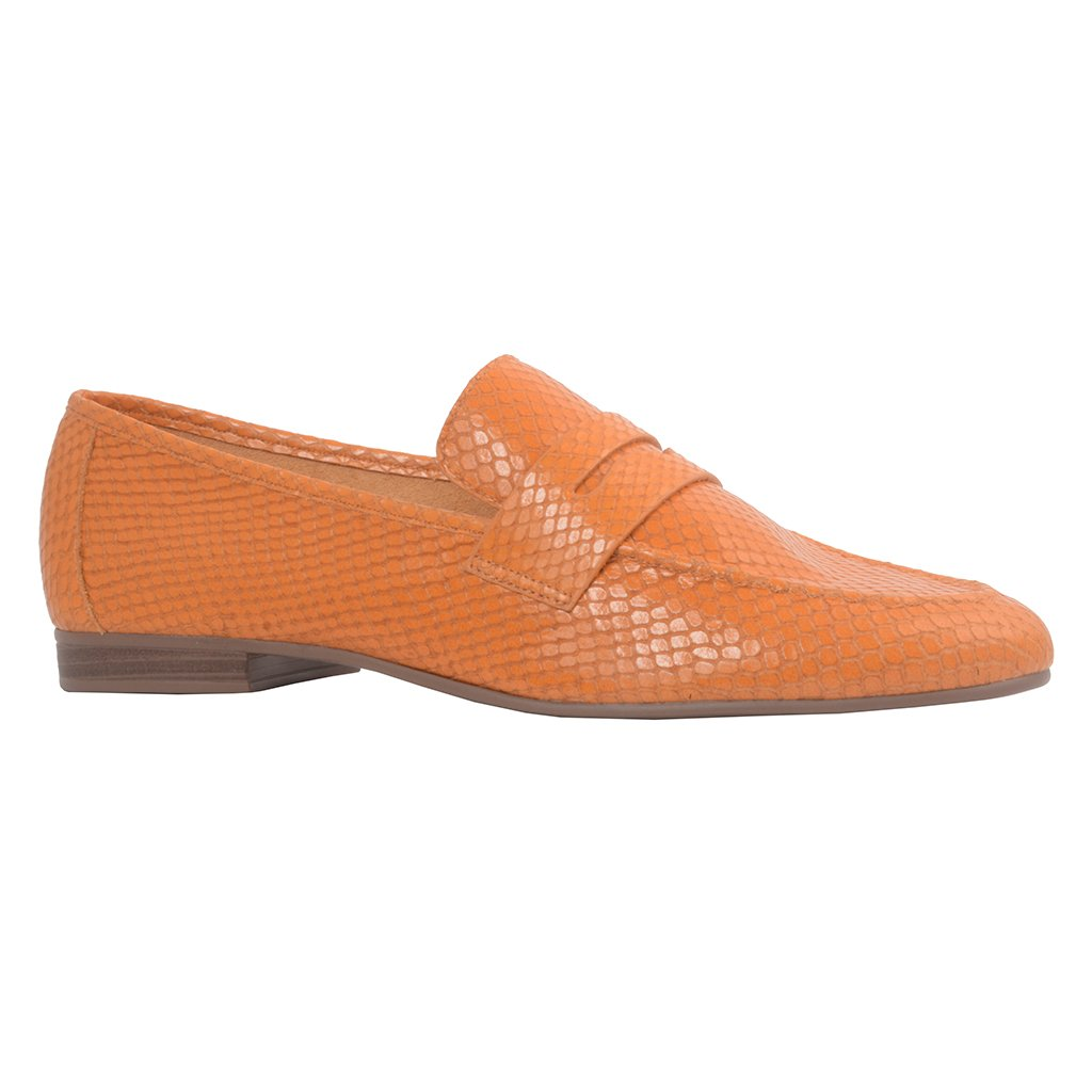 Loafer Couro Snake Curry I21