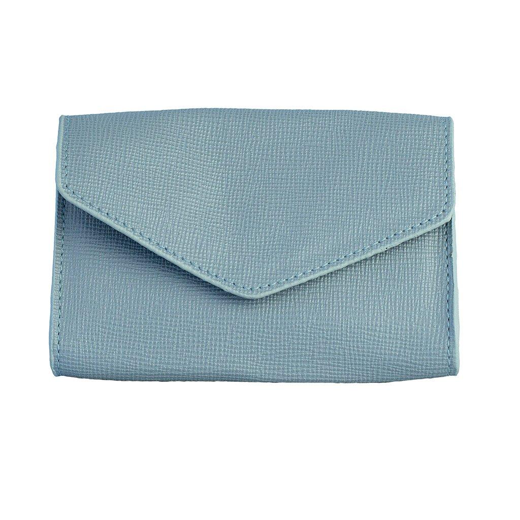 Carteira Pequena Light Blue com Porta-Cartão V20