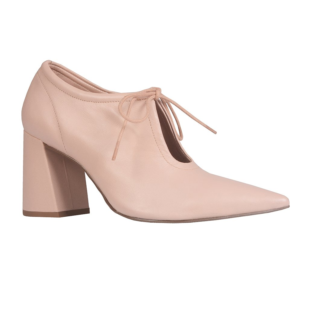 Ankle Boot Couro Nude I21