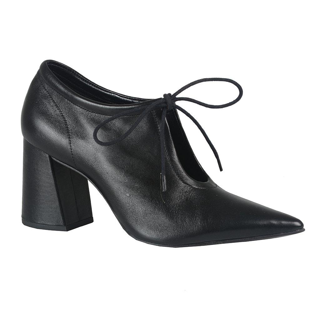 Ankle Boot Couro Preto I21