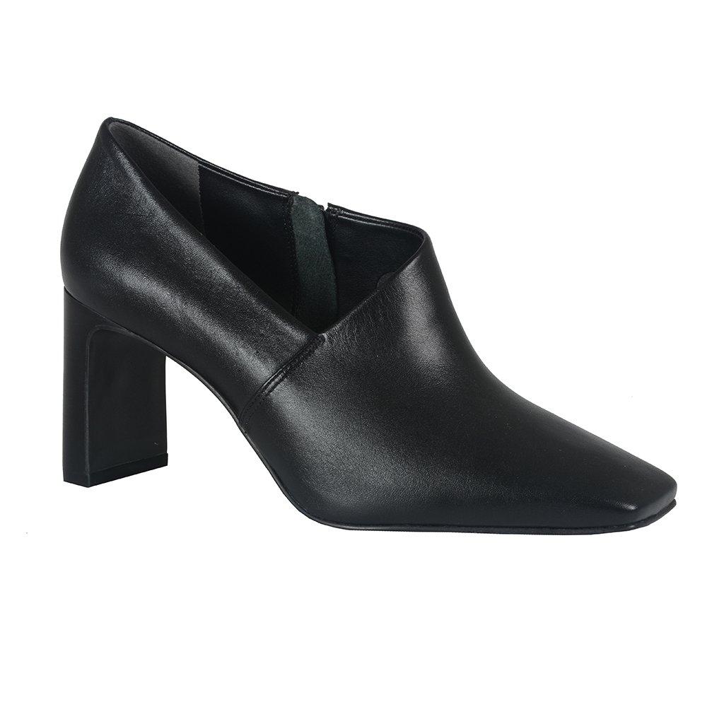 Ankle Boot Preta Com Recorte I21