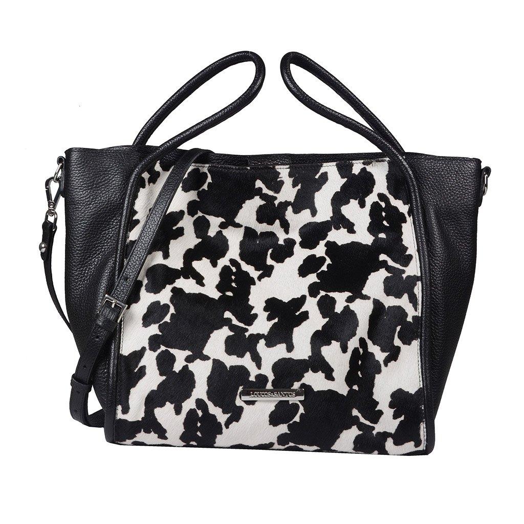 Bolsa Grande Cow Print P&B I20