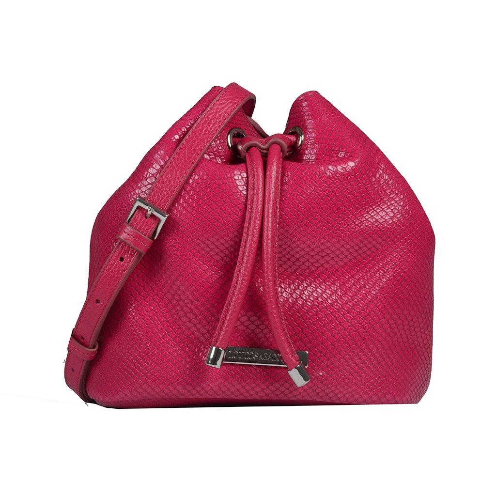 Bolsa Saco Couro Pink I20