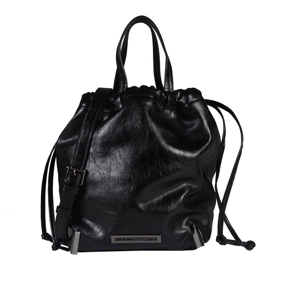 Bolsa Saco Preta com Alça de Mão